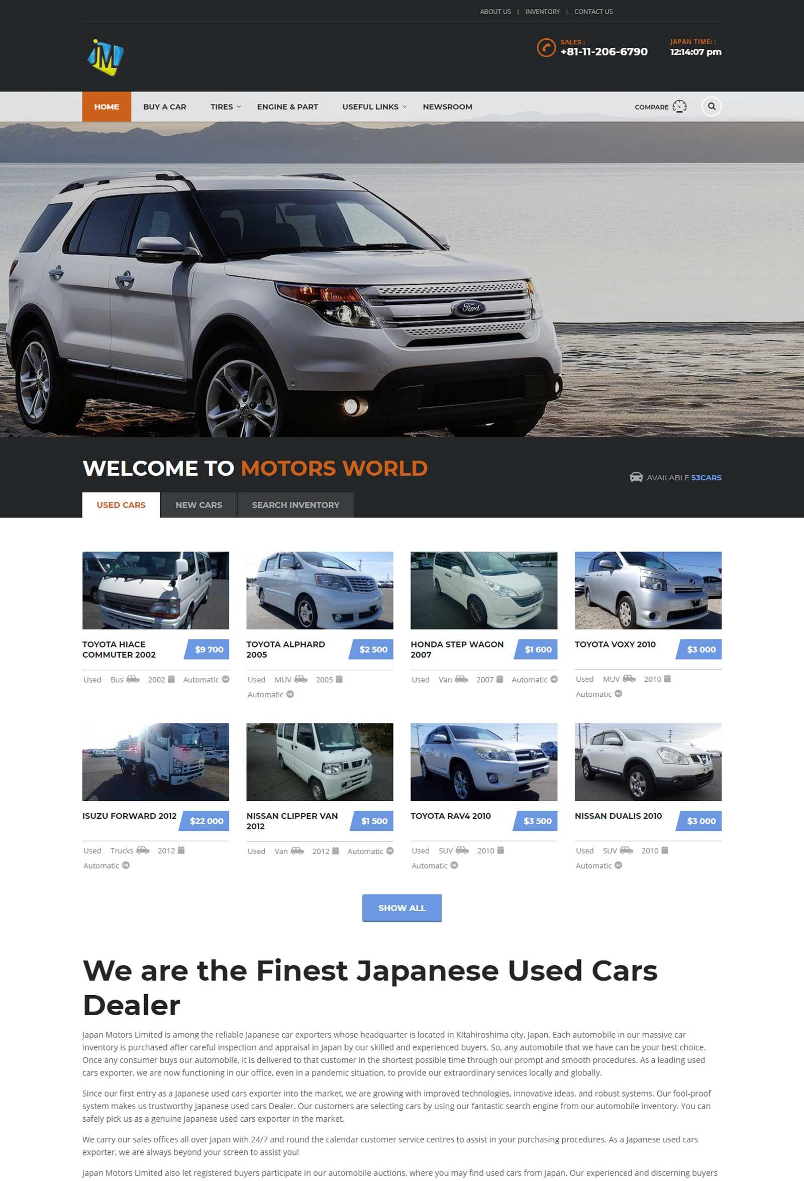 japan-motors-website